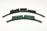 Vlak s kolejemi plast 19ks na baterie se světlem v krabici vláčkodráhy vlakové sady hračky na baterie Teddies