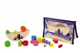 Krtku, nerozlij to! balanční hra dřevo 20 dílků v taštičce hračka ze dřeva Detoa