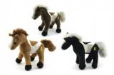 Kůň plyš 26cm se zvukem asst 3 barvy plyšová hračka Teddies