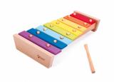Xylofon duhový dřevo s paličkou 35cm v krabici Teddies