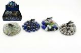 Kuličky skleněné různé velikosti asst 38+2 ks v síťce 7x7cm 24ks v boxu Teddies