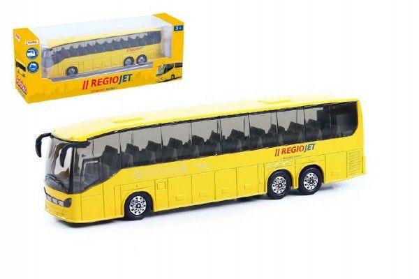 Autobus RegioJet kov/plast 18,5cm na zpětný chod v krabičce Rappa