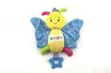 Motýl chrastítko plyš 28cm asst 3 barvy na kartě hračka pro nejmenší Teddies