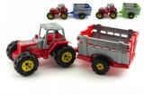 Traktor s přívěsem plast 51cm v síťce
