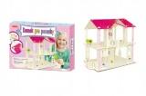 Domek pro panenky dřevěný skládačka 35x25 cm v krabici