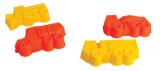 Formičky Bábovky Tatra 4ks plast v síťce 11x17x10cm Dino