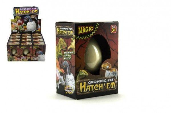 Dinosaurus líhnoucí a rostoucí z vajíčka 6cm v krabičce v 12 ks v boxu Teddies