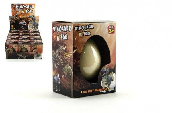 Dinosaurus líhnoucí a rostoucí z vajíčka v krabičce 8x10cm 12ks v boxu Teddies