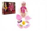 Panenka miminko Agusia plast 27cm pijící čůrající s doplňky  v krabici