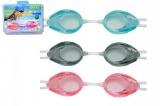 Plavecké brýle asst 3 druhy na kartě 8+ Teddies
