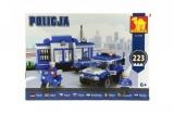 Stavebnica Dromader Policie Stanice + Auto + Motorka 223ks v