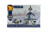 Stavebnice Dromader Policie Stanice+Auto 279ks v krabici 32x22x5cm