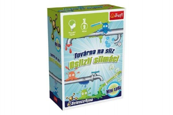 Výroba slizu mini sada vědecká hra 2 pokusy Science 4 you v krabičce 11x16cm Trefl