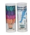 Míčky/Košíčky na badminton péřové barevné 4ks v tubě 6x18x6cm Teddies