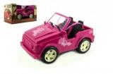 Auto pro panenky růžové plast 30cm v krabici Dromader