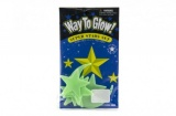 Hvězdy svítící ve tmě 5,5cm plast na kartě 12x20cm Teddies