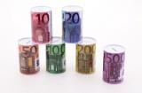 Kasička plechová EUR