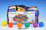 Míček/Míčky do hracích koutů 6,5cm barevný 100ks v plastové tašce 2+