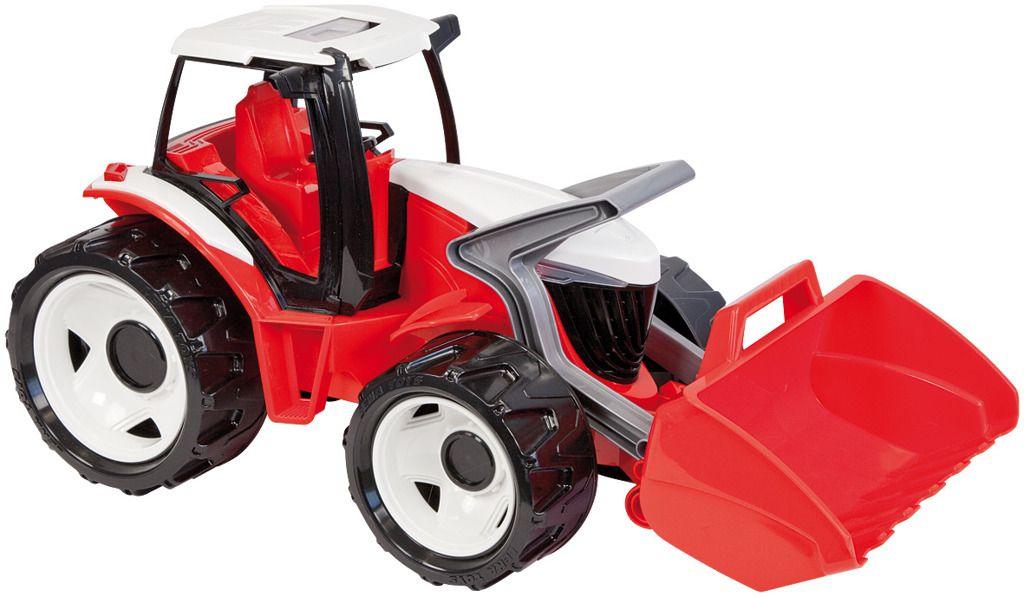 Traktor se lžíci, červeno bílý