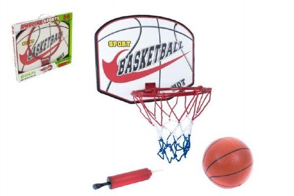 Basketbalový koš + míč s pumpičkou 49,5x41,5x4cm Teddies