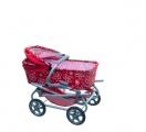 Kočárek Daria hluboký 77x87x38cm pro panenky asst dětské kočárky Teddies
