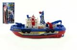 Loď/Člun plast 25cm na baterie na kartě