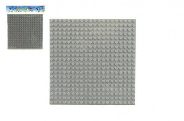 Podložka pro stavebnice plast 16x16cm v sáčku Teddies