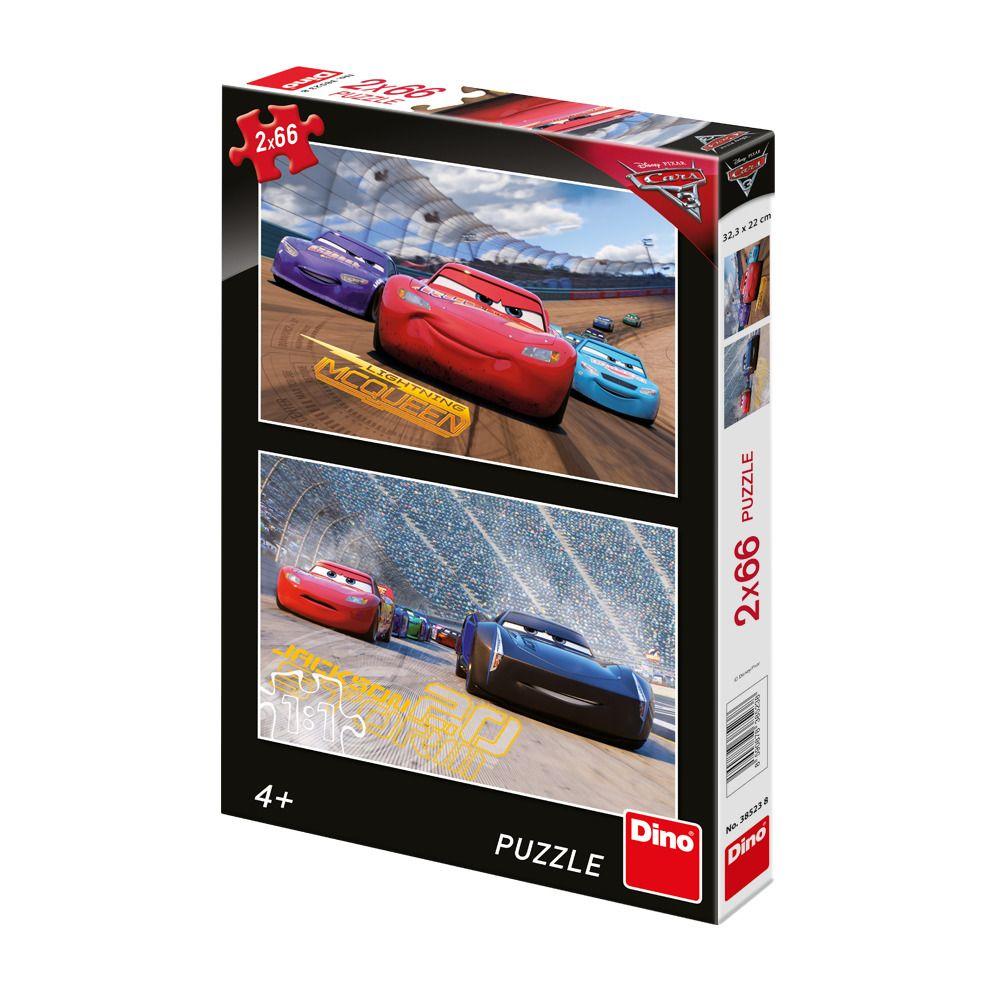 Puzzle 2x66 dílků Cars 3: Závod