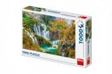 Puzzle Plitvická jezera Chorvatsko 66x47cm 1000 dílků v krabici 32x23x7,5cm Dino