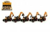 Traktor s podkopem stavební kov/plast 15cm asst na zpětný chod 6ks v boxu Teddies