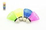 Míček na badminton barevný 5ks v tubě 7x19x7cm Teddies