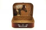 Šitý Kufr/Kufřík kůň 30x21x9,5cm Teddies