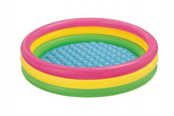 Bazén nafukovací duhový 147x33cm od 2 let Teddies