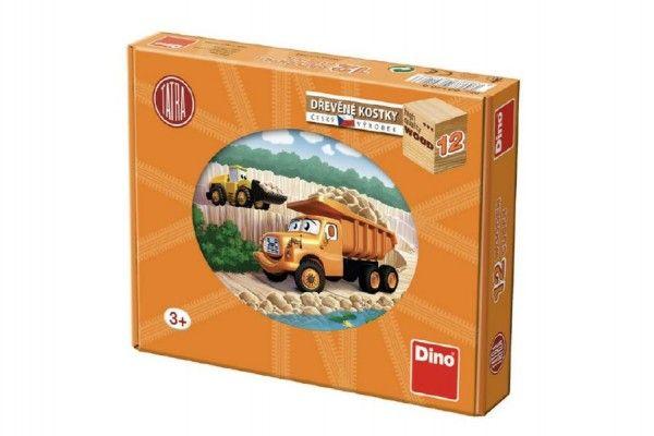Kostky kubus Tatra 12 dřevo 12ks v krabičce 22x17x4cm Dino