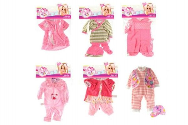 Oblečky/Šaty pro panenky asst v sáčku 25x40cm Teddies