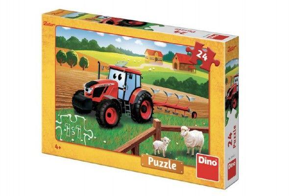Puzzle Zetor orba 26x18 cm 24 dílků v krabici 27x19x4cm Dino