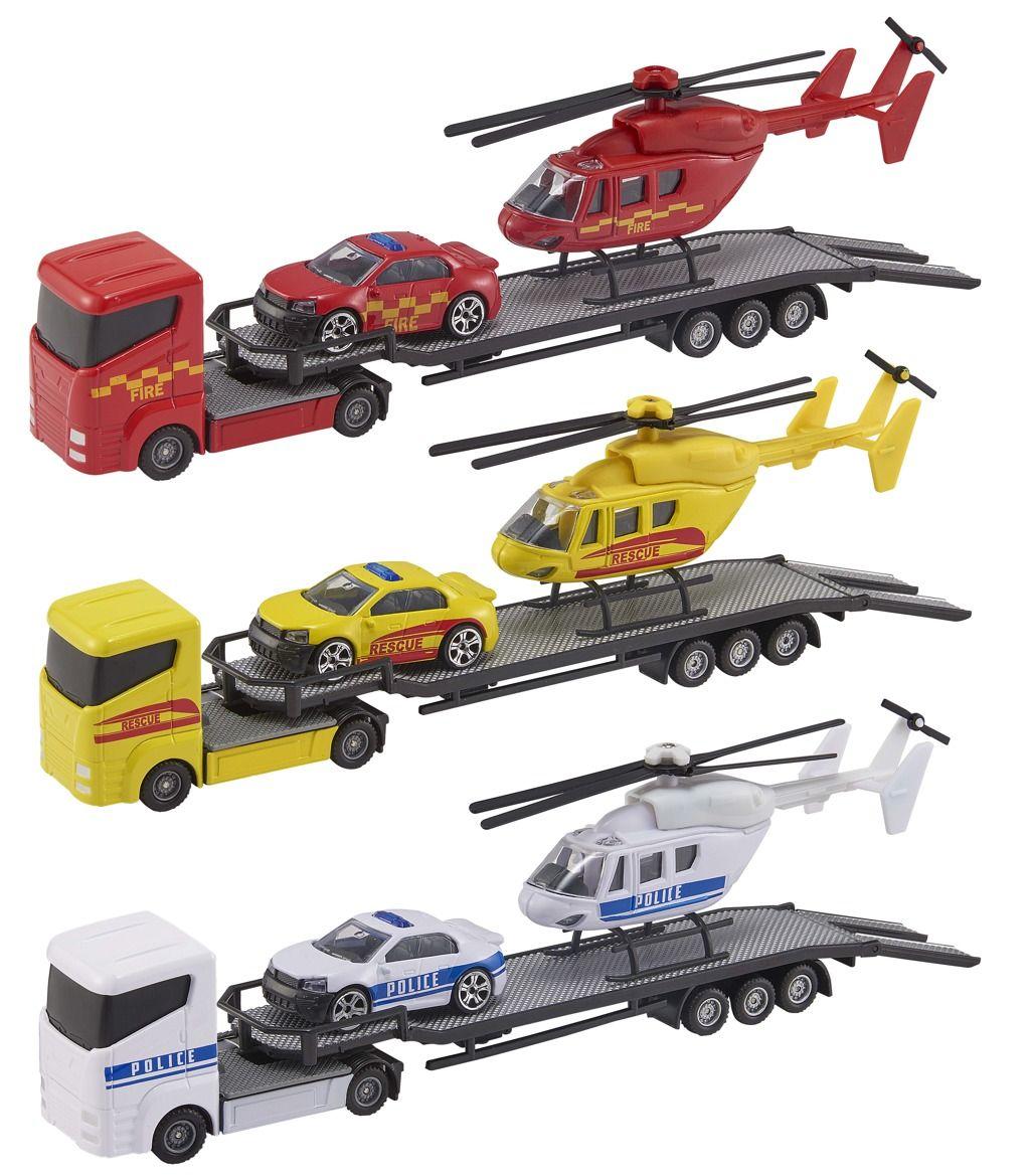 Teamsterz tahač + helikoptéra + auto Halsall