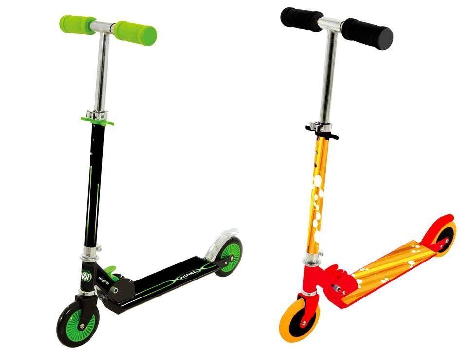 Dětská koloběžka - zelená/oranžová Alltoys