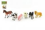 Zvířátka farma 6ks plast 9cm v sáčku