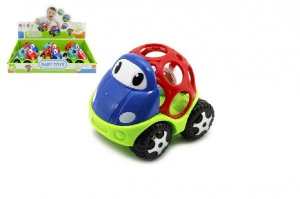 Auto chrastítko pro nejmenší plast 11cm asst 6ks v boxu Teddies