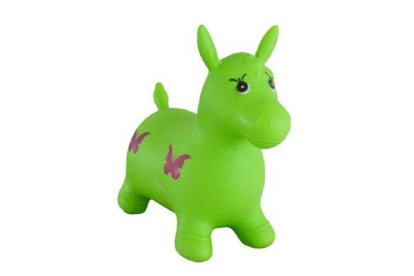 Hopsadlo kůň skákací gumový zelený 49x43x28cm v sáčku Teddies