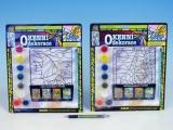 Okenní dekorace 8 barev + štětec asst 4 druhy na kartě