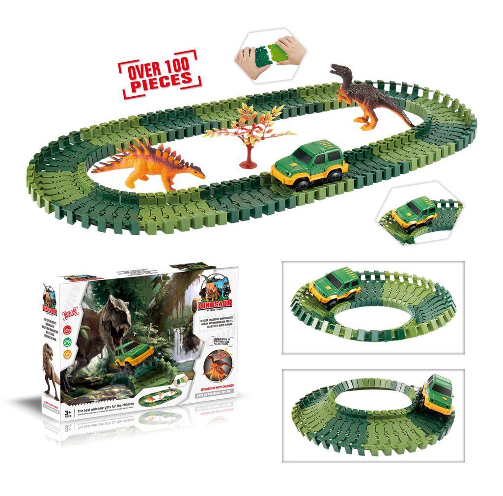 Variabilní dráha s dinosaury 100 dílů Alltoys