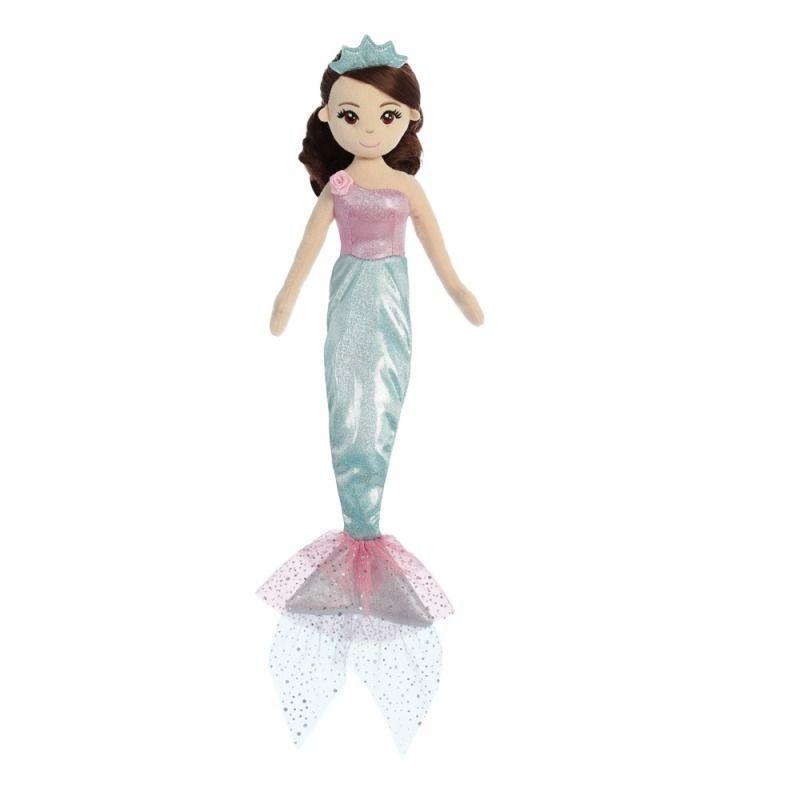 Látková Mořská panna Tyrkysová princezna 46 cm Alltoys