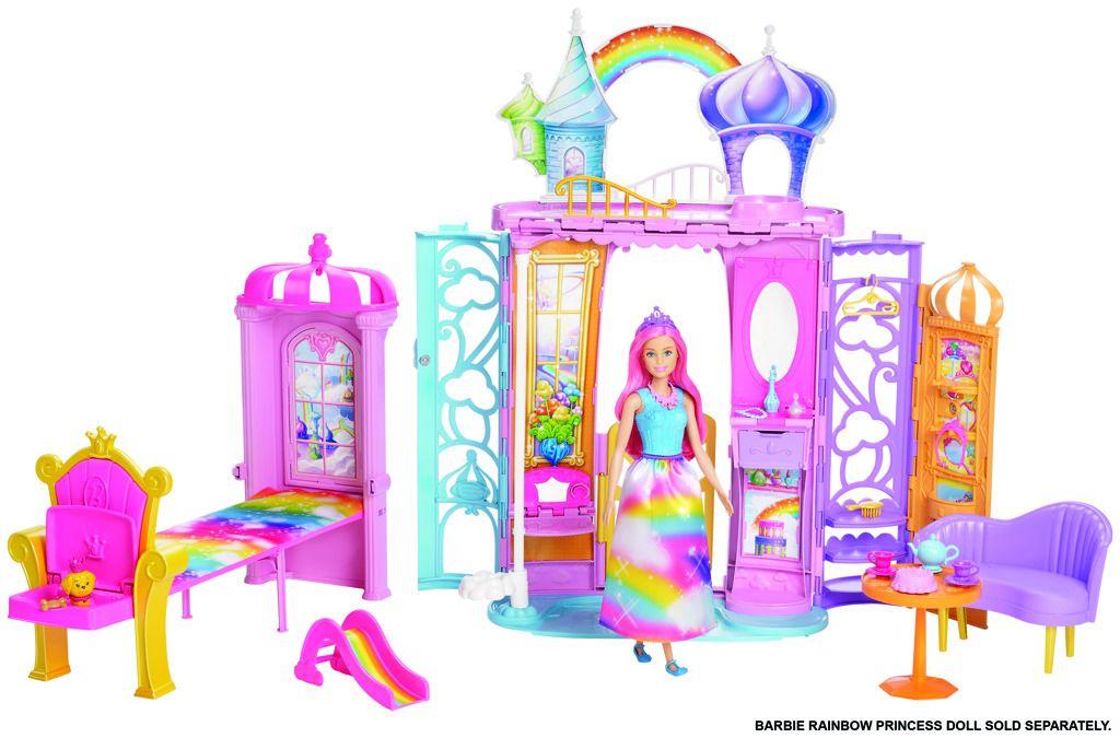 Barbie duhový zámek FTV98 Mattel
