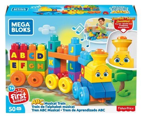 Mega Bloks hudební vláček s písmenky Mattel