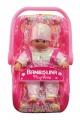Panenka Bambolina s autosedačkou 30 cm doplňky pro panenky Alltoys