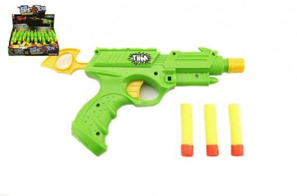 Pistole na pěnové náboje plast 25cm 12ks v boxu Teddies