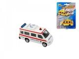 Auto ambulance kov 7cm asst 2 barvy na kartě