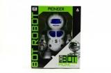 Robot tancující plast 23cm na baterie se světlem se zvukem v krabici